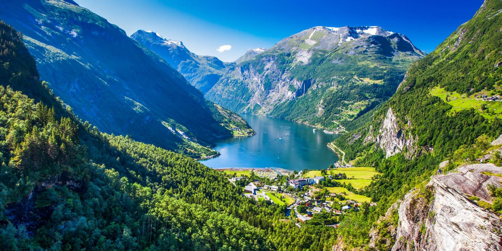 Geiranger and the fjord