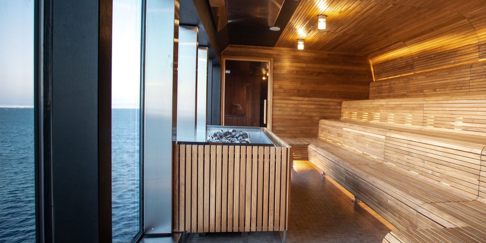 Sauna on Ms Roald Amundsen